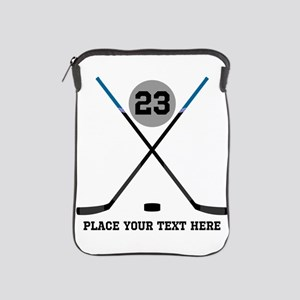 Ice Hockey Personalized iPad Sleeve