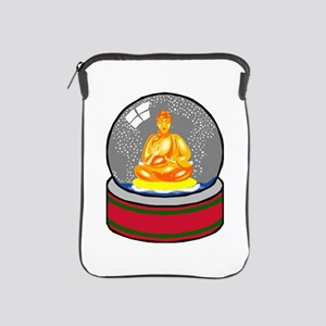 Meditating Buddha in a Snow Globe iPad Sleeve