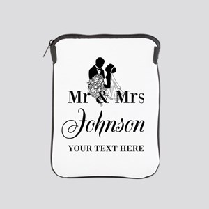 Personalized Mr and Mrs iPad Sleeve