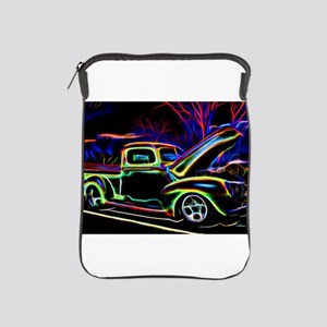1940 Ford Pick up Truck Neon iPad Sleeve
