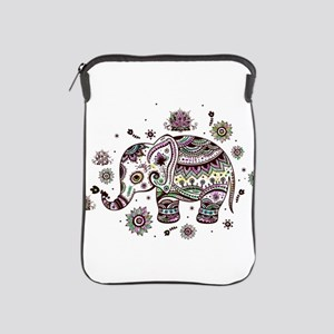 Cute Pastel Colors Floral Elephant iPad Sleeve