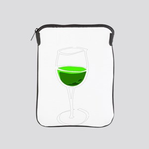 got green wine white iPad Sleeve