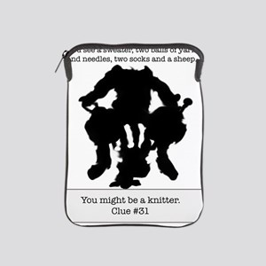 Ink Blot You Might Be a Knitter Final iPad Sleeve