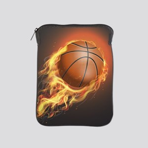 Flaming Basketball iPad Sleeve