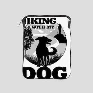 I'd Rather Be Hiking With My Dog Scene iPad Sleeve