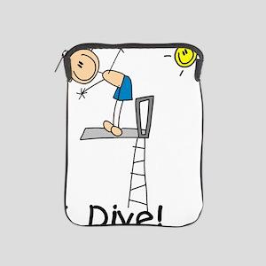 Boy I Dive Stick Figure iPad Sleeve