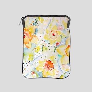 Watercolor Daffodils Pattern iPad Sleeve