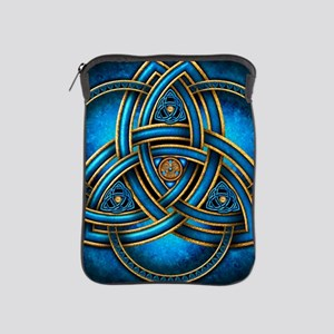 Blue Celtic Triquetra iPad Sleeve