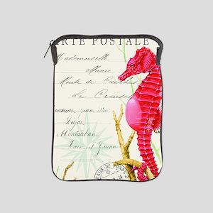 Modern vintage seahorse iPad Sleeve