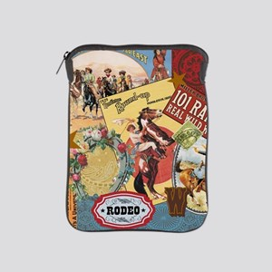 Vintage Western cowgirl collage iPad Sleeve