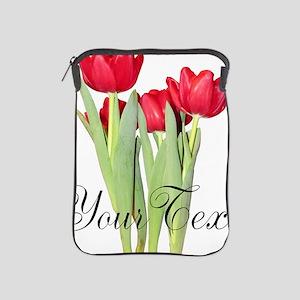 Personalizable Tulips iPad Sleeve