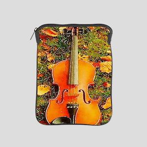 romantic fall leaves violin iPad Sleeve