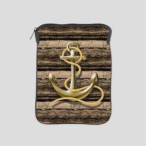 shabby chic vintage anchor iPad Sleeve