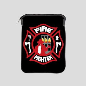 Modern Firefighter Badge iPad Sleeve