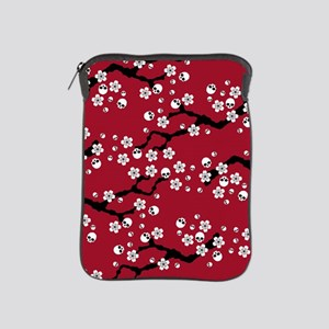 Gothic Cherry Blossoms Pattern iPad Sleeve