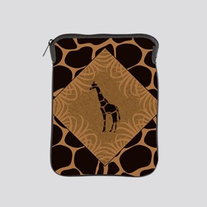 Giraffe with Animal Print iPad Sleeve