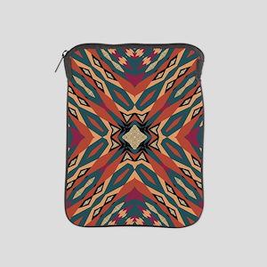 Aztec Pattern Earthy Warm tones iPad Sleeve