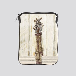 Antique Water Color Print Golf Clubs Ipad Sleeve