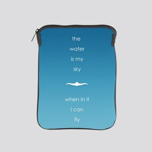 water is my sky square circle iPad Sleeve