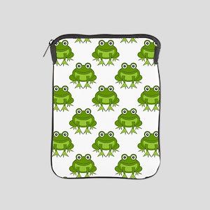 Cute Happy Frog Pattern iPad Sleeve