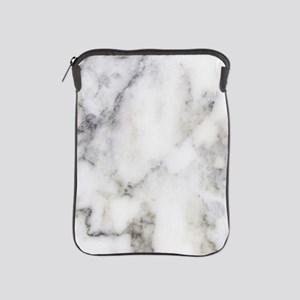 Trendy white and gray marble texture p iPad Sleeve