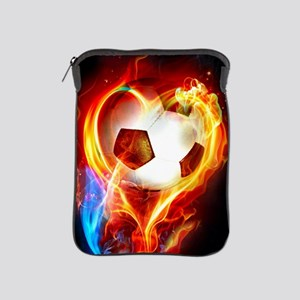 Flaming Football Ball iPad Sleeve