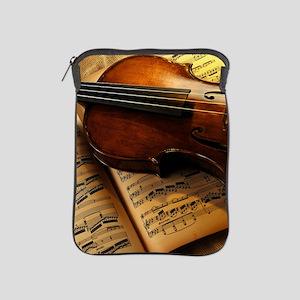 Violin On Music Sheet iPad Sleeve