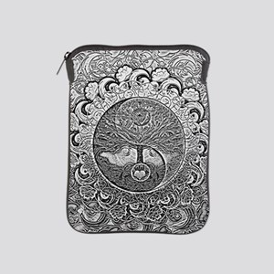 Shiny Metallic Tree of Life Yin Yang iPad Sleeve