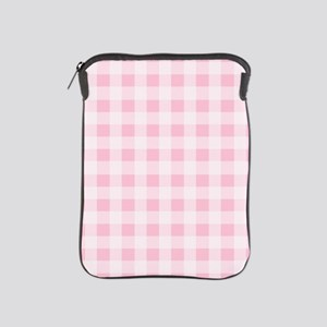 Pink Gingham Checkered Pattern iPad Sleeve