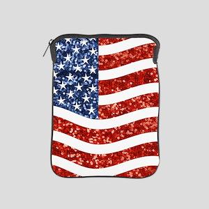 sequin american flag iPad Sleeve