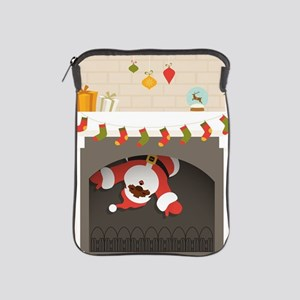 black santa stuck in fireplace iPad Sleeve