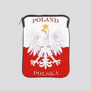 Poland Polska White Eagle Flag iPad Sleeve