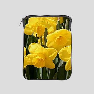 Daffodil flowers in bloom iPad Sleeve