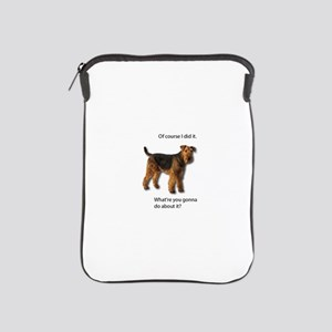Guilty Airedale Shows No Remorse iPad Sleeve