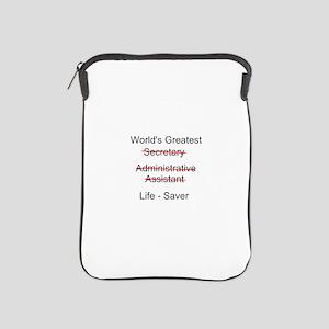 World's Greatest Secretary iPad Sleeve