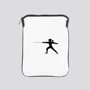 Girl Fencer Lunging iPad Sleeve