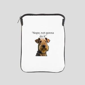 Airedale Terrier Stubborn Sayings iPad Sleeve