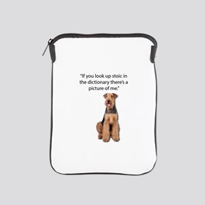 Stoic Airedales Epitome of the Term iPad Sleeve