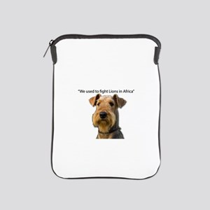 Airedales used to Fight Lions in Afric iPad Sleeve