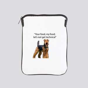 Your Food - My Food Airedale iPad Sleeve