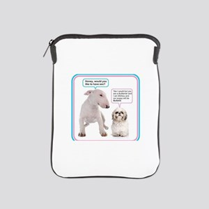 Dog humor iPad Sleeve