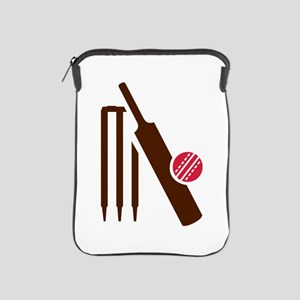 Cricket bat stumps iPad Sleeve