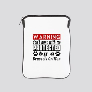 Protected By Brussels Griffon Dog iPad Sleeve