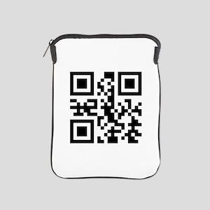 GO FUCK YOURSELF QR CODE iPad Sleeve