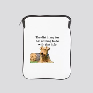Airedale Sees no connection between hi iPad Sleeve