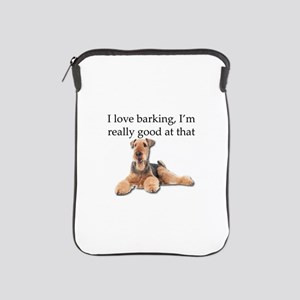 Airedale Terrier is Really good at bar iPad Sleeve