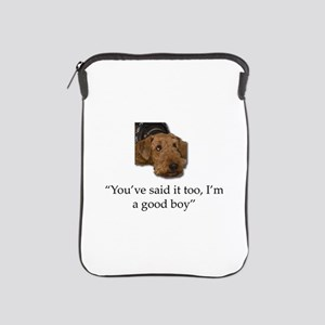 Sulking Airedale Terrier Giving Cute E iPad Sleeve