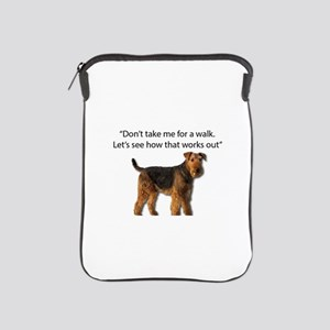 Airedale Terrier Getting Ready for Pay iPad Sleeve