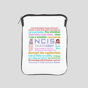 NCIS Abby Quotes iPad Sleeve