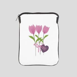 Pink Tulip Monogram iPad Sleeve